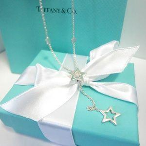 Authentic Rare Tiffany Lariat Drop Star Necklace